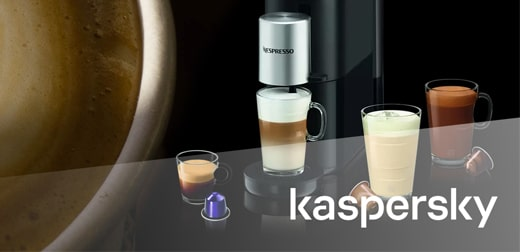 Buy for € 1000 Kaspersky en Get 1 of these delicious Nespresso coffee machines