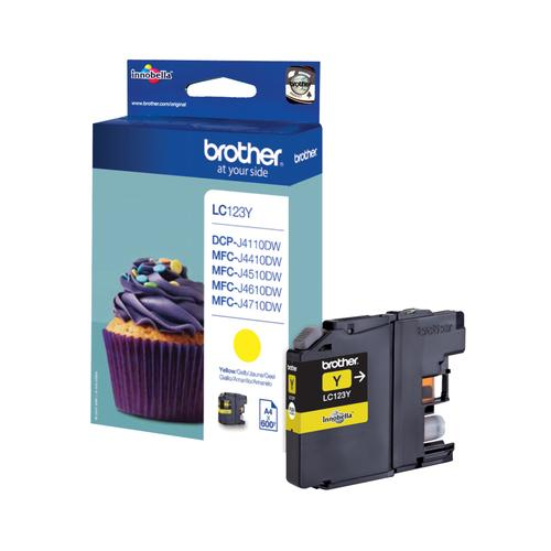 Brother LC-123Y ink cartridge Original Yellow 1 pc(s) product photo