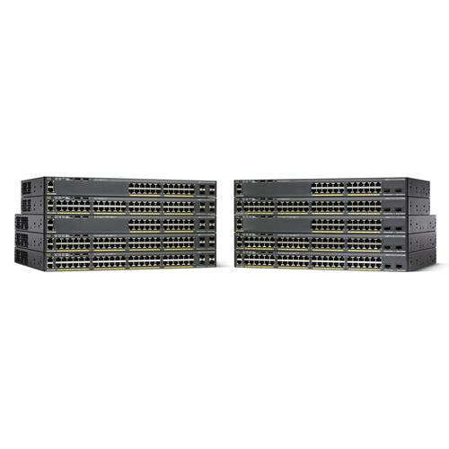 Cisco Catalyst WS-C2960X-48LPD-L network switch Managed L2 Gigabit Ethernet (10/100/1000) Black Power over Ethernet (PoE) product photo