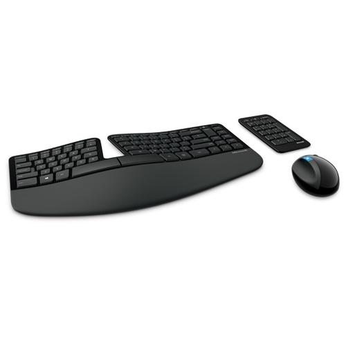 Microsoft Sculpt Ergonomic keyboard USB QWERTY Black product photo