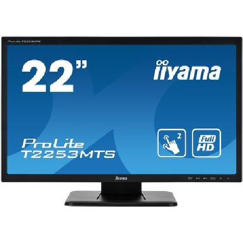 "iiyama ProLite T2253MTS-B1 touch screen monitor 54.6 cm (21.5"") 1920 x 1080 pixels Dual-touch Tabletop Black product photo"