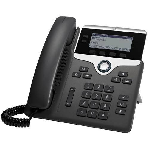 Cisco 7821 IP phone Black,Silver Wired handset 2 lines product photo  L
