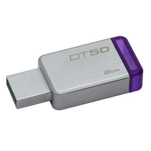 Kingston Technology DataTraveler 50 8GB USB flash drive USB Type-A 3.0 (3.1 Gen 1) Purple,Silver product photo