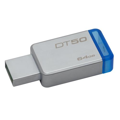Kingston Technology DataTraveler 50 64GB USB flash drive USB Type-A 3.2 Gen 1 (3.1 Gen 1) Blue,Silver product photo