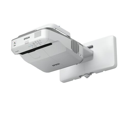 Epson EB-685Wi data projector 3500 ANSI lumens 3LCD WXGA (1280x800) Wall-mounted projector Gray, White product photo