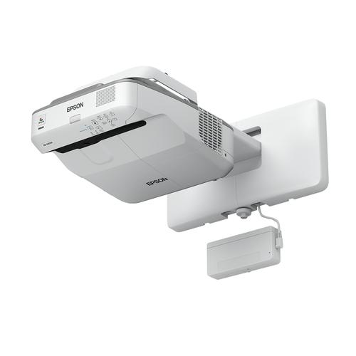 Epson EB-695Wi data projector 3500 ANSI lumens 3LCD WXGA (1280x800) Wall-mounted projector Gray, White product photo