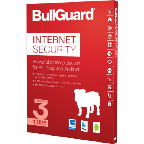 BullGuard BG1601 antivirus security software Multilingual 1 license(s) 1 year(s) product photo