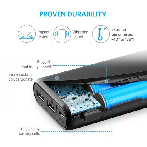 Anker PowerCore 20000 power bank Black Lithium Polymer (LiPo) 20000 mAh product photo  L