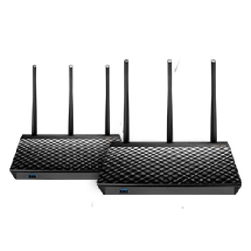 ASUS AiMesh AC1900 wireless router Dual-band (2.4 GHz / 5 GHz) Gigabit Ethernet Black product photo  L