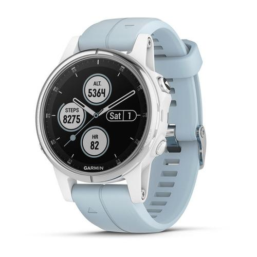 "Garmin fēnix 5S Plus 3.05 cm (1.2"") 42 mm MIP White GPS (satellite) product photo"