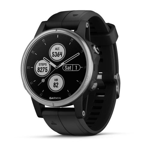 "Garmin fēnix 5S Plus smartwatch MIP 3.05 cm (1.2"") Silver GPS (satellite) product photo"