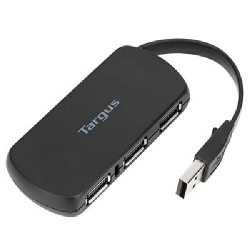 Targus ACH114EU interface hub USB 2.0 480 Mbit/s Black product photo