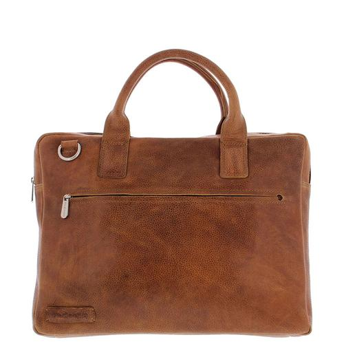 "Plevier Brooklyn Laptop bag 15.6"" Full grain leather Cognac product photo"