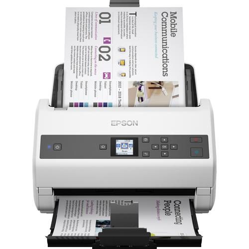 Epson WorkForce DS-870 Sheet-fed scanner 600 x 600 DPI A3 Grey, White product photo