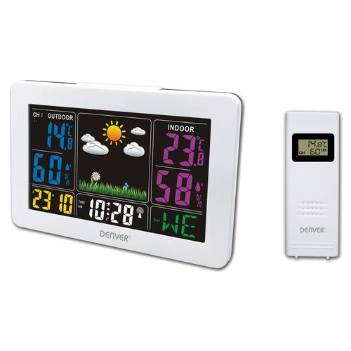 Denver WS-540WHITE digital weather station White AC/Battery product photo