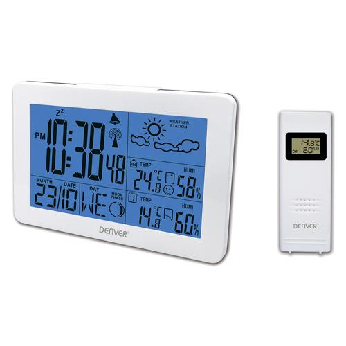 Denver WS-530WHITE digital weather station White Battery product photo