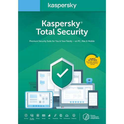 Kaspersky Lab Total Security 2020 1 license 3 devices 1 year Dutch product photo