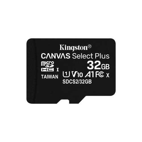 Kingston Technology Canvas Select Plus memory card 32 GB MicroSDHC UHS-I Class 10 product photo