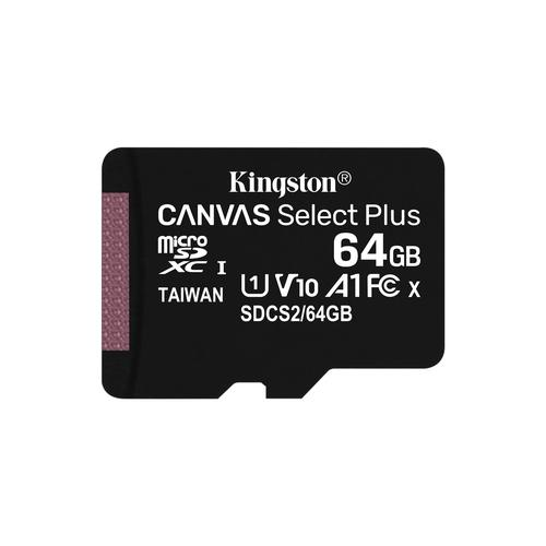 Kingston Technology Canvas Select Plus memory card 64 GB MicroSDXC UHS-I Class 10 product photo