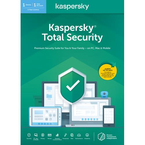 Kaspersky Lab Total Security 2020 1 license 1 device 1 year Dutch product photo