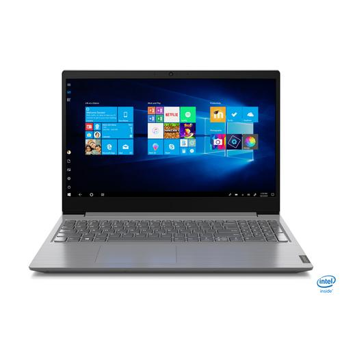 "Lenovo V V15 Notebook Grey 39.6 cm (15.6"") 1920 x 1080 pixels 10th gen Intel® Core™ i7 8 GB DDR4-SDRAM 512 GB SSD Wi-Fi 5 (802.11ac) Windows 10 Pro product photo"