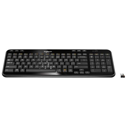 Logitech K360 keyboard RF Wireless QWERTY Dutch Black product photo