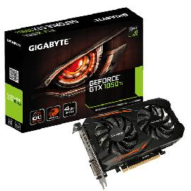 Gigabyte GV-N105TOC-4GD graphics card NVIDIA GeForce GTX 1050 Ti 4 GB GDDR5 product photo