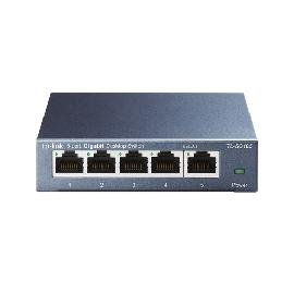 TP-LINK TL-SG105 network switch Unmanaged L2 Gigabit Ethernet (10/100/1000) Black product photo