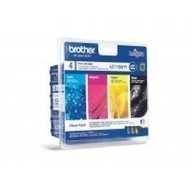 Brother LC-1100HYVALBP ink cartridge Original Black, Cyan, Magenta, Yellow 4 pc(s) product photo