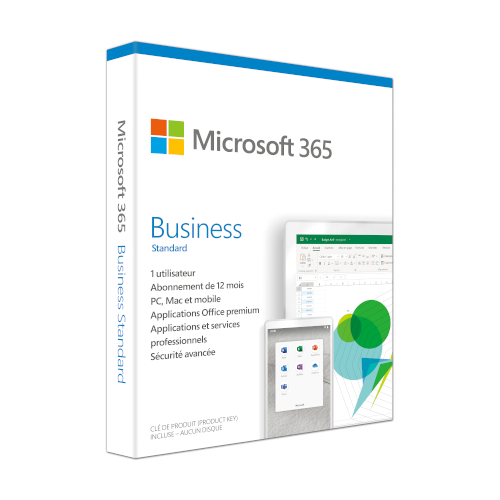 Microsoft 365 Business Standard 1 year French product photo