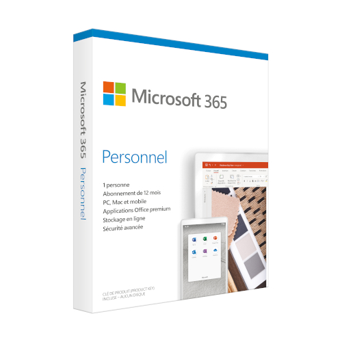 Microsoft 365 Personal 1 year French product photo