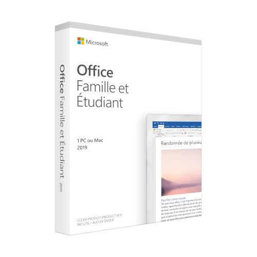 Microsoft Office 2019 Home and Student French product photo