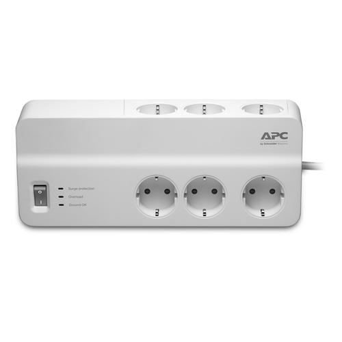 APC PM6-GR protection surtension 6 sortie(s) CA 230 V 2 m Blanc photo du produit