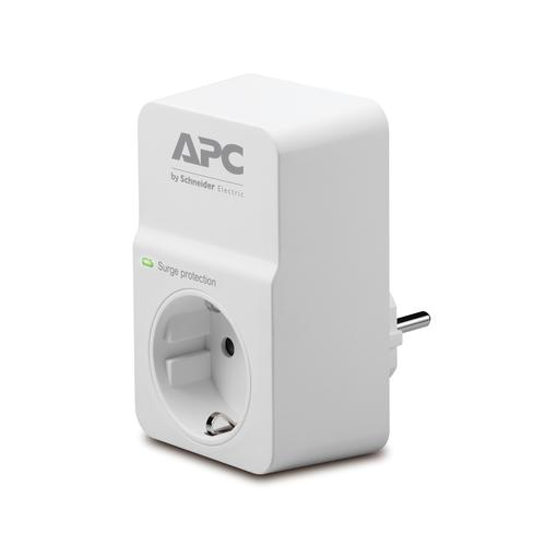 APC SurgeArrest protection surtension 1 sortie(s) CA 230 V Blanc photo du produit