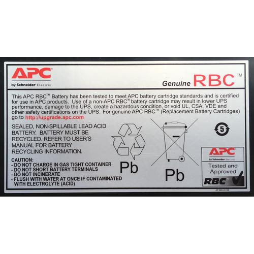 APC RBC33 Batterie de l'onduleur Sealed Lead Acid (VRLA) photo du produit  L