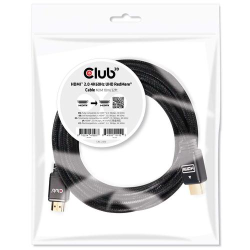 CLUB3D HDMI 2.0 4K60Hz RedMere cable 10m/32.8ft photo du produit