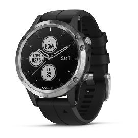 "Garmin fēnix 5 Plus montre intelligente Argent 3,05 cm (1.2"") GPS (satellite) photo du produit"