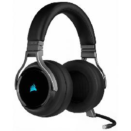 Corsair Virtuoso RGB Casque Arceau Charbon photo du produit