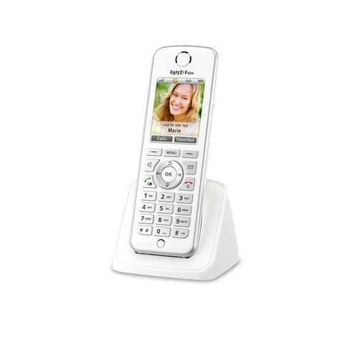 AVM FRITZ!Fon C4 International Téléphone DECT Blanc Identification de l'appelant photo du produit