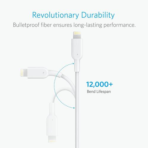 Anker PowerLine II 10ft Lightning 3 m Blanc photo du produit  L