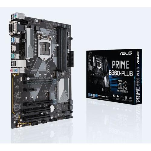 ASUS PRIME B360-PLUS carte mère LGA 1151 (Emplacement H4) ATX Intel® B360 photo du produit