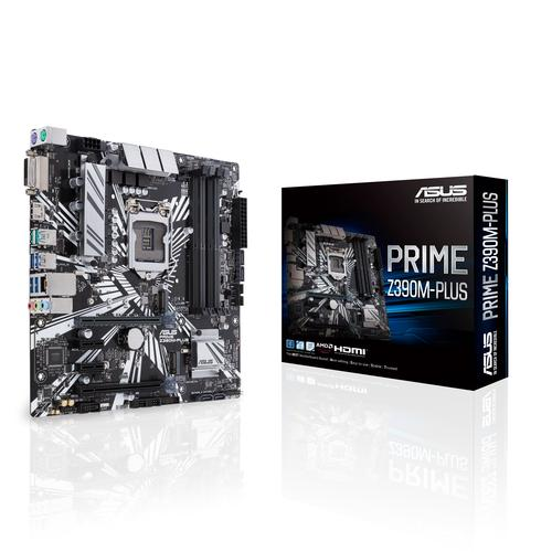 ASUS PRIME Z390M-PLUS carte mère LGA 1151 (Emplacement H4) Micro ATX Intel Z390 photo du produit