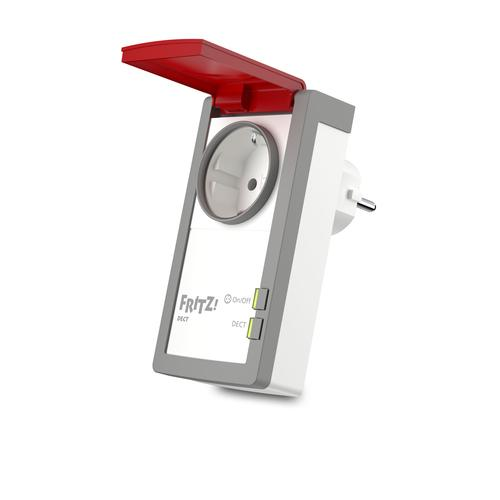AVM FRITZ DECT 210 INTERNATIONAL Prise intelligente Rouge, Blanc 1,5 W photo du produit
