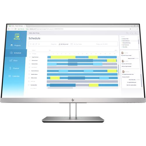 "HP EliteDisplay E273d LED display 68,6 cm (27"") 1920 x 1080 pixels Full HD Noir, Argent photo du produit"