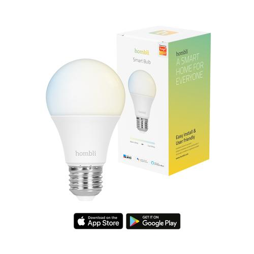 Hombli Smart Bulb (9W) CCT (E27) Ampoule intelligente Blanc Wi-Fi photo du produit