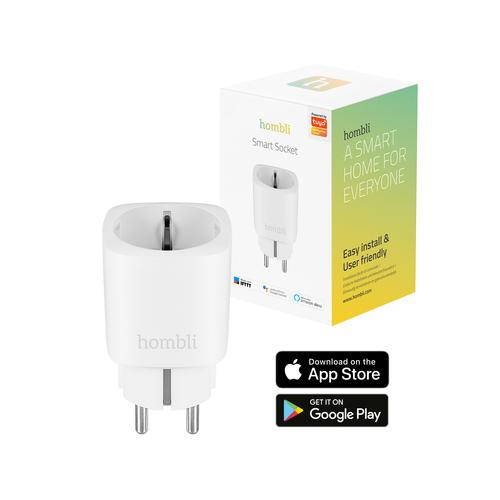 Hombli Smart Socket EU Prise intelligente Blanc 3680 W photo du produit