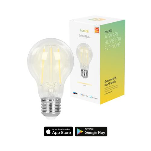 Hombli Smart Bulb (7W) Filament (E27) Ampoule intelligente Transparent Wi-Fi photo du produit
