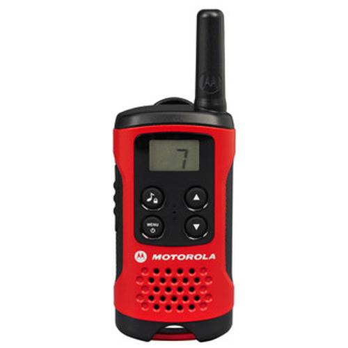 Motorola T40 Walkie Talkie radio bidirectionnelle 8 canaux 0.0125 MHz Noir, Rouge photo du produit