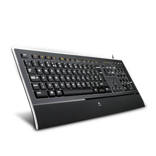 Logitech K740 clavier USB QWERTY International EER+Mer du Nord Noir photo du produit