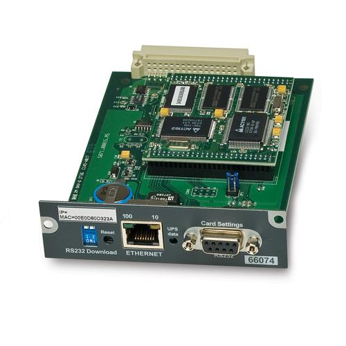 APC MGE SNMP/Web Card Ethernet 100 Mbit/s Interne photo du produit  L